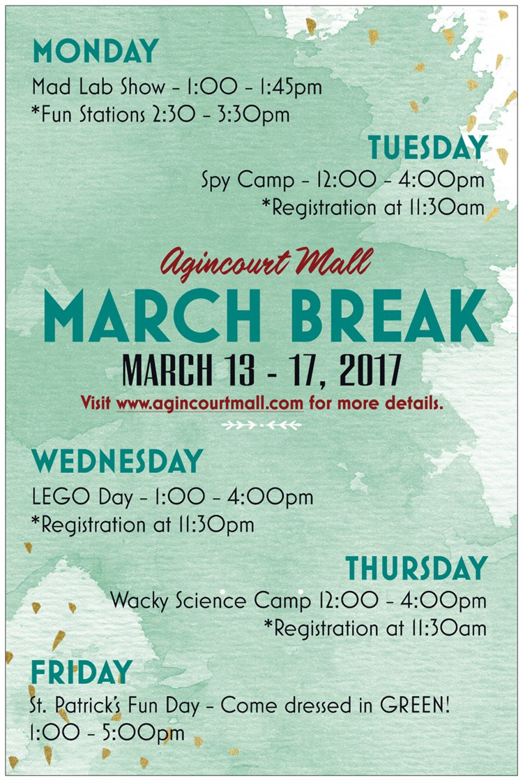 March Break Poster
